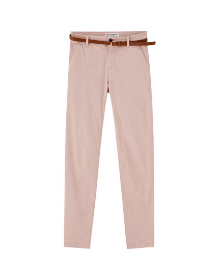 Basic chinos with belt