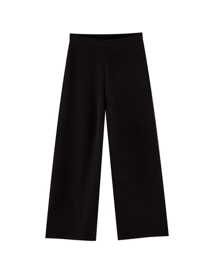 Soft ribbed culottes