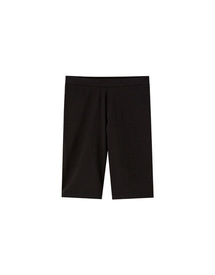 Basic black cycling shorts