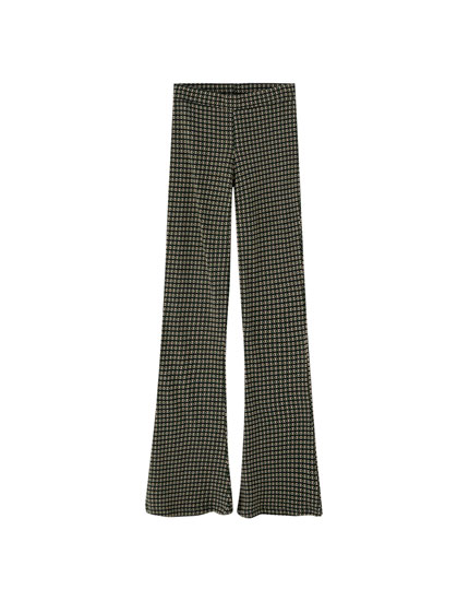 Jacquard flared trousers