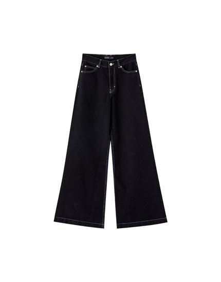 Jeans mit weitem Bein Pull&Bear by Rosalía