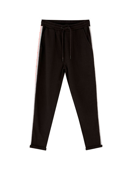 Pantalon de jogging bandes inscription