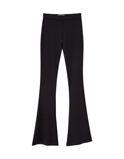 Basic flared trousers