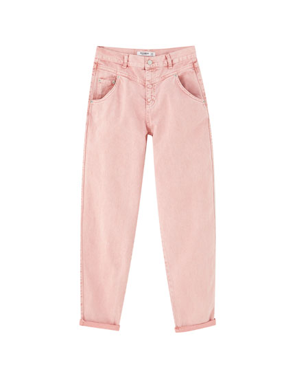 Pink gaucho jeans