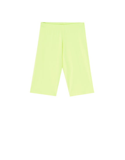Neon cycling Bermuda shorts