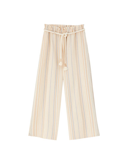 Rustic striped trousers