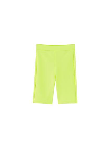 Pantaloni ciclism neon