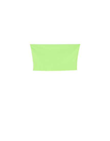 Bandeau top in neon colours
