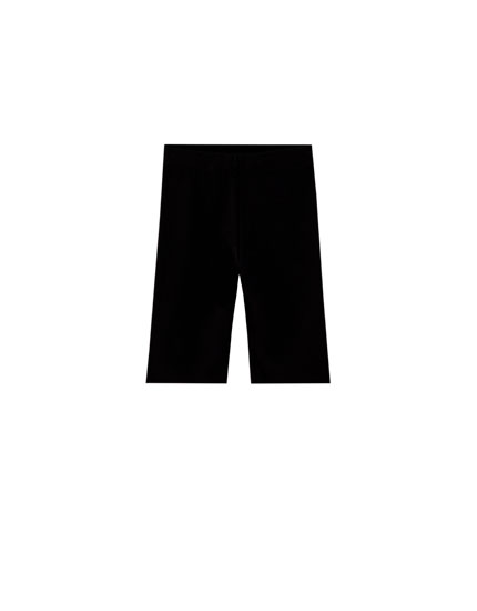 Black cycling trousers
