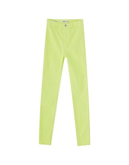 Pantaloni skinny neon