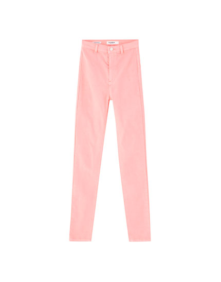 Neon skinny trousers