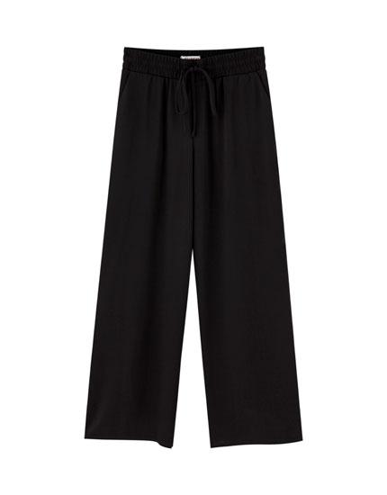 Pantalón culotte abertura