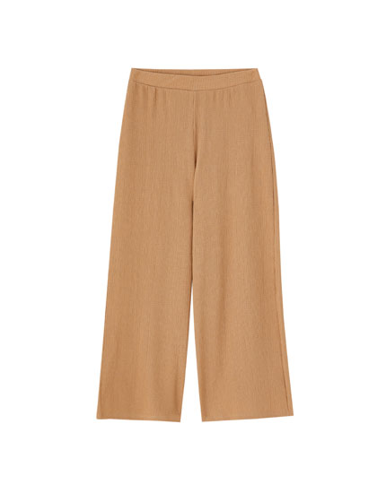 Coloured crepe culottes