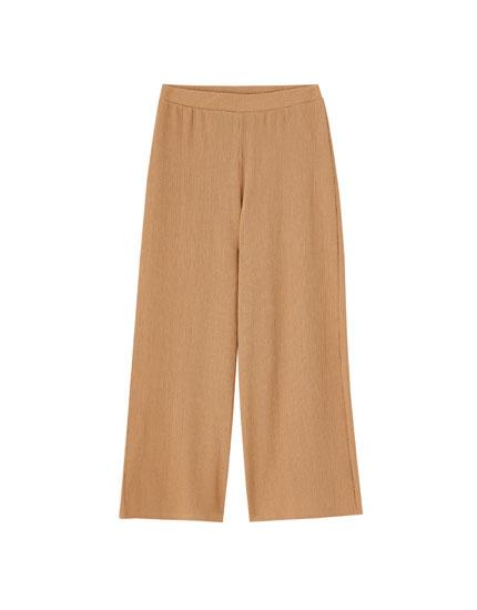Pantalón culotte bambula color