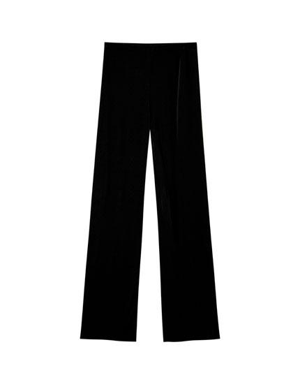 Pantaloni plisați negri