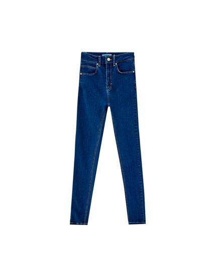 Skinny fit jeans met hoge taille