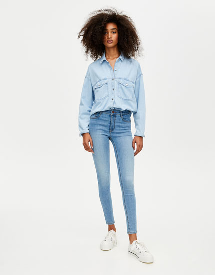 Jean super skinny taille normale
