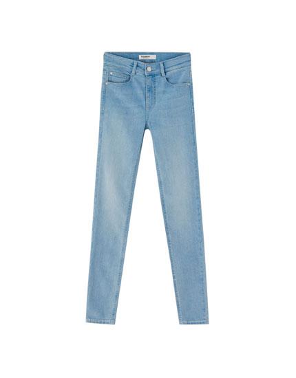 Super Skinny-Hose mit halbhohem Bund