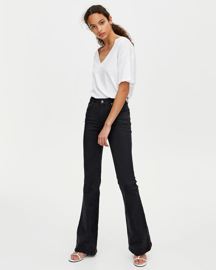 Mid waist flared jeans