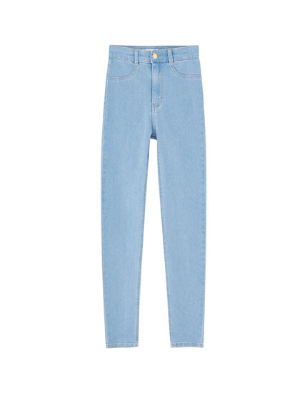 High waist skinny jeans