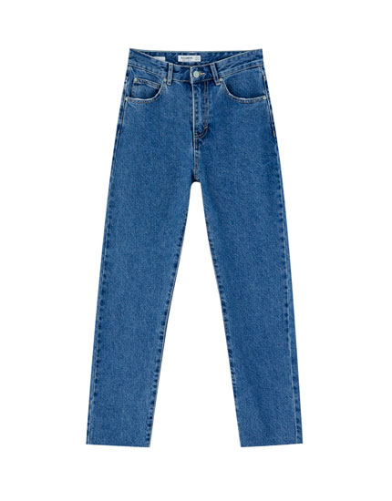 Dunkelblaue Mom-Fit-Jeans