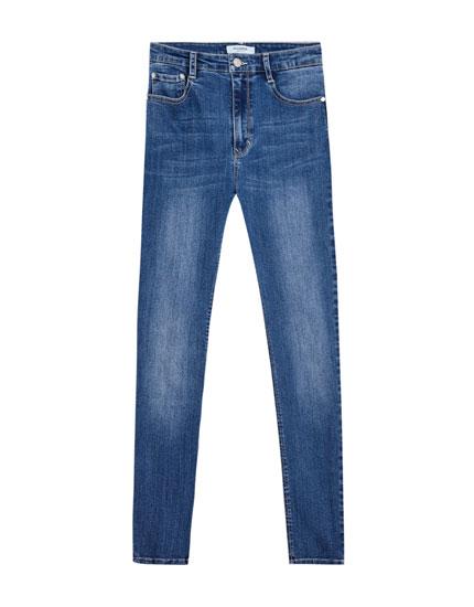 Jean super skinny taille haute