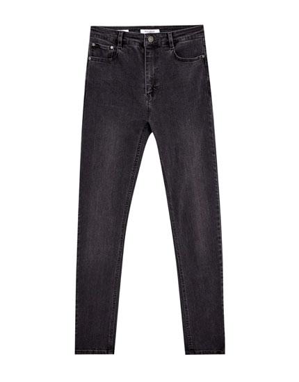 Jeans super skinny fit de tiro alto