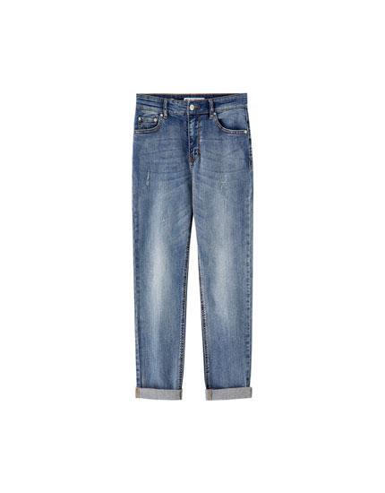High-waist slim fit jeans