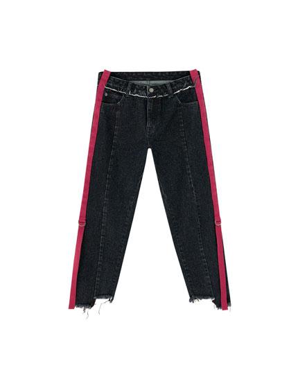 Jeans met zijstrepen