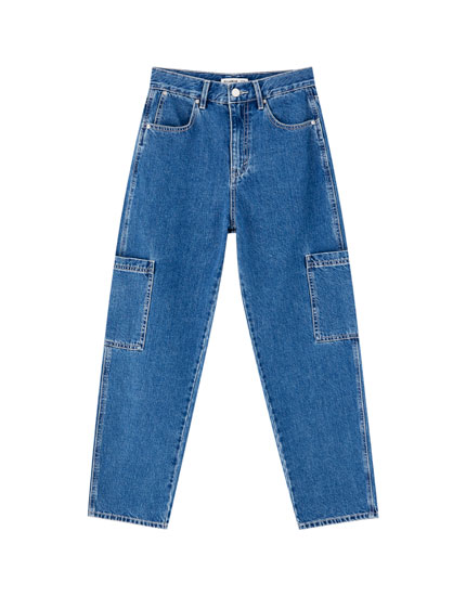 High waist carpenter jeans