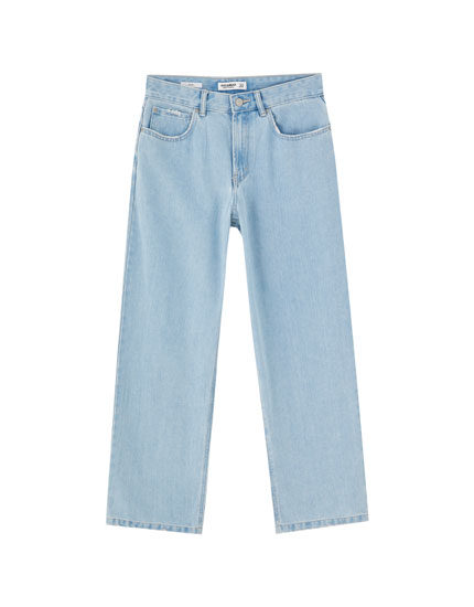 Capri baggy jeans
