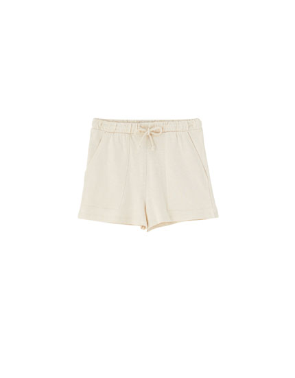 Basic shorts with drawstring waist