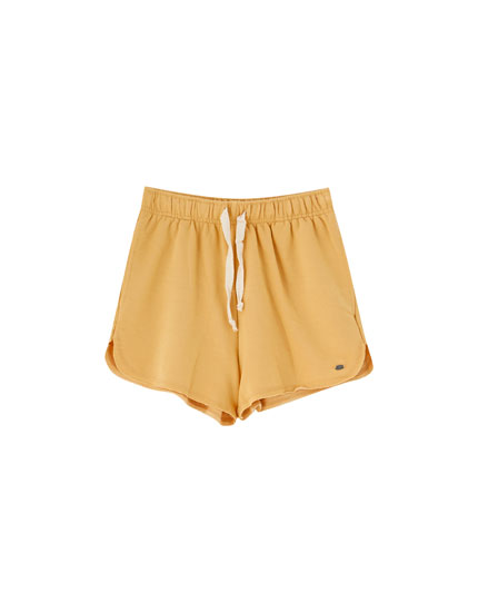 Basic plush shorts