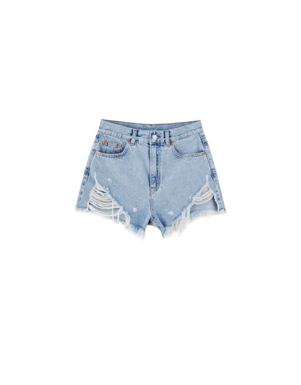 Sadie Sink denim shorts