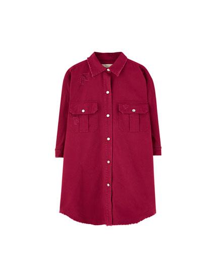 Oversize-Hemd mit Rissen