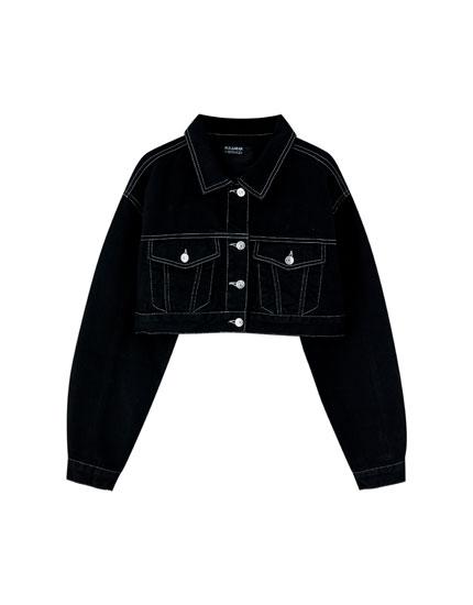 Pull&Bear by Rosalía black denim jacket