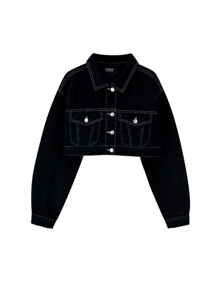 Pull&Bear by Rosalía black denim jacket