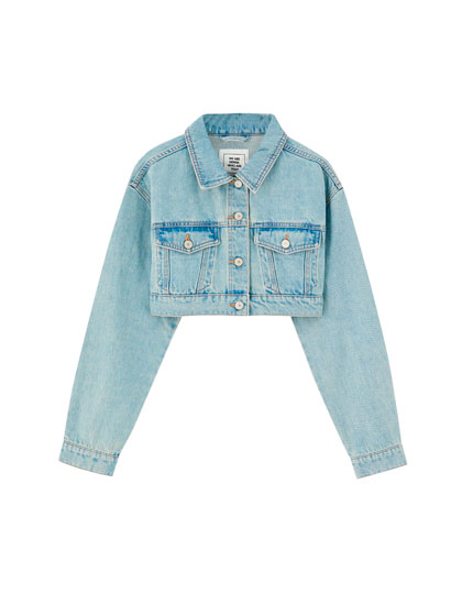 Super cropped denim jacket