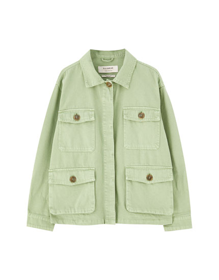Four-pocket safari jacket