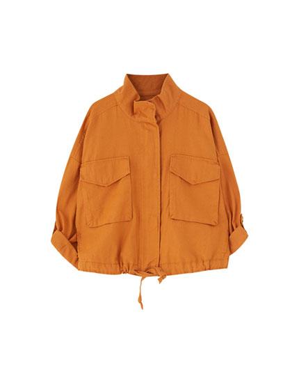 Oversize worker jacket