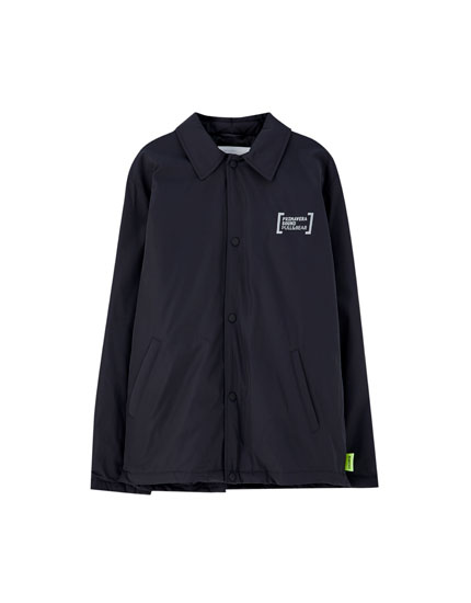 Primavera Sound x Pull&Bear jacket with reflective letters