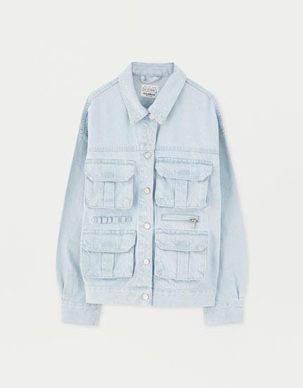 Denim cargo jacket