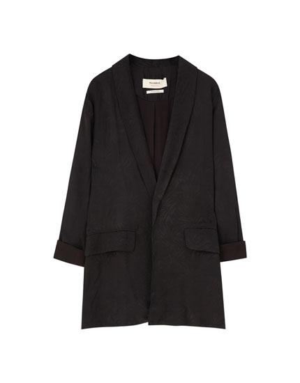Kimono cu guler smoking jacquard
