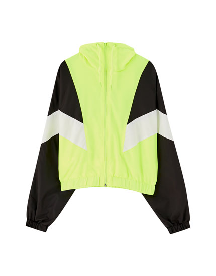 Diagonal panel jacket
