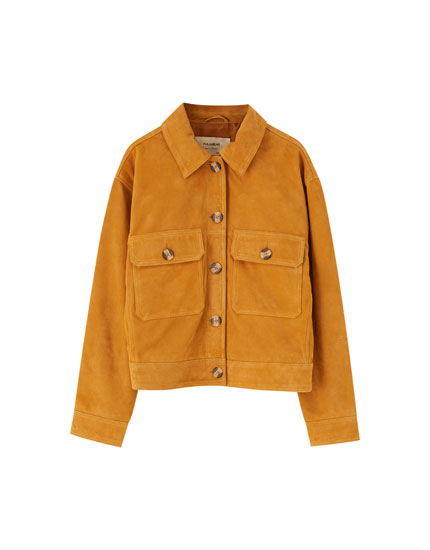 Suede worker jacket