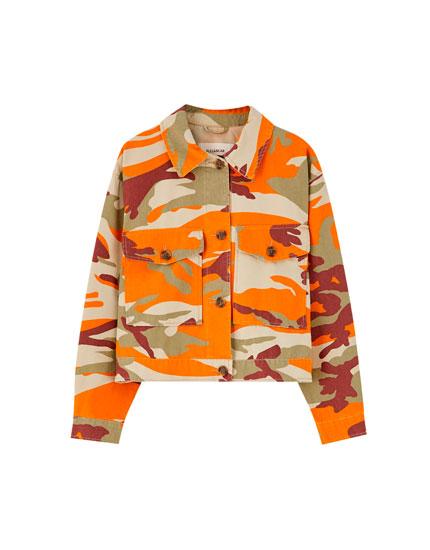 Oranje camouflage jack