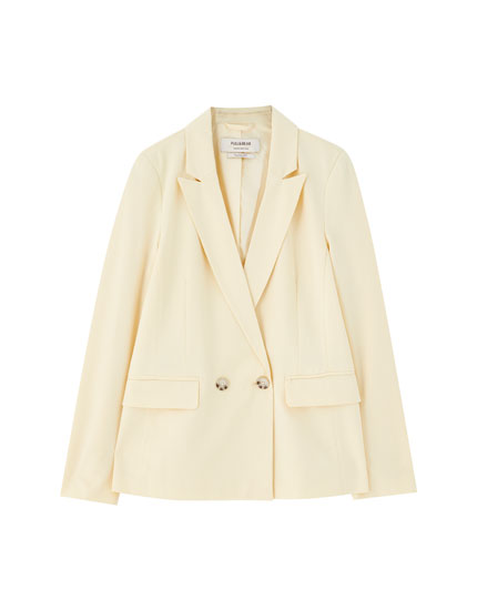 Double-breasted blazer with two buttons