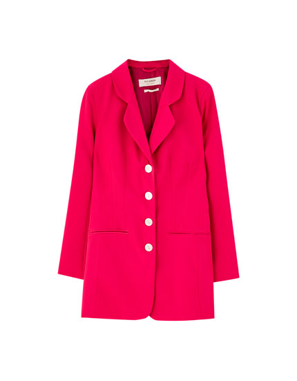 Veste tailleur rose style robe