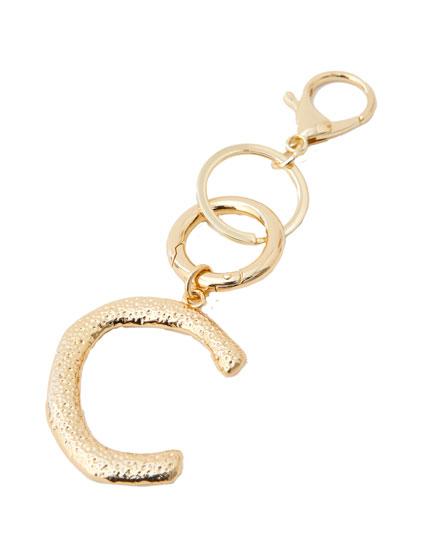 Letter C key ring