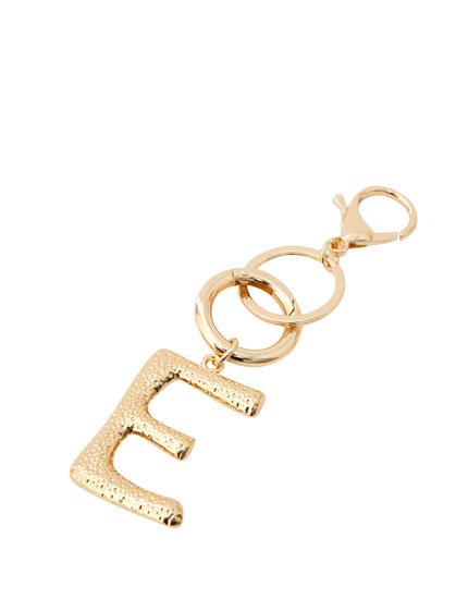 Letter E key ring